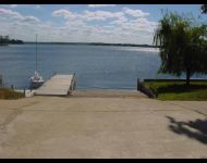 Boat ramp with docks